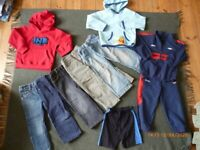 large selection of boys clothes age 3-4 years