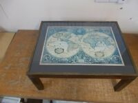 Coffee table with World Map print £25 ONO