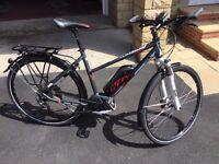 E-Bike. Electric Bike: KTM Macina Cross 10 C4 with Bosch Performance Line Motor