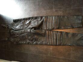 JTS black leather wear