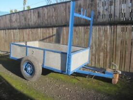 Trailer. 5 x 3. Galvanised trailer. Ladder rack. Good condition with good tyres.