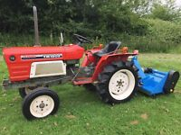 Yanmar YM1602 2WD Compact Tractor with New 4ft Flail Mower, 590 Hours