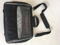 "Vaio 16"" Laptop Bag - lots of sections & pockets - carry handle & shoulder strap - Black & Grey"