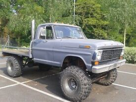 1968 Ford F100 Custom cab. monster truck. Rat Rod.
