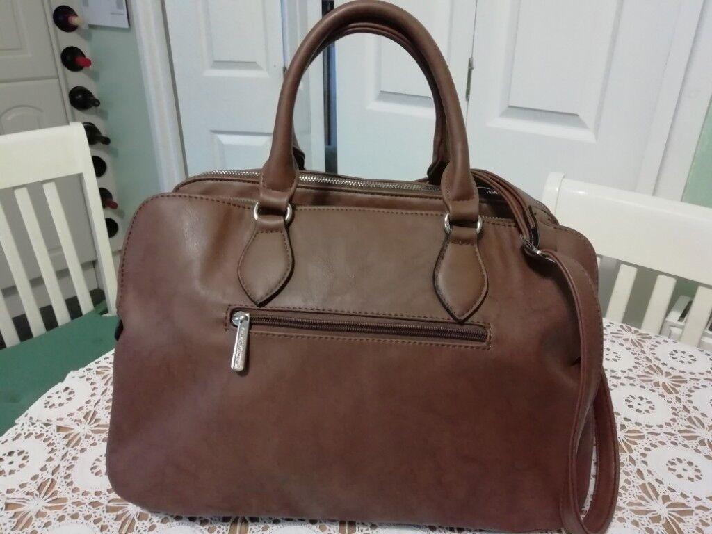 David Jones Brown Handbag As New