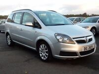 2006 vauxhall zafira 1.6 petrol club with only 73000 miles, motd oct 2018