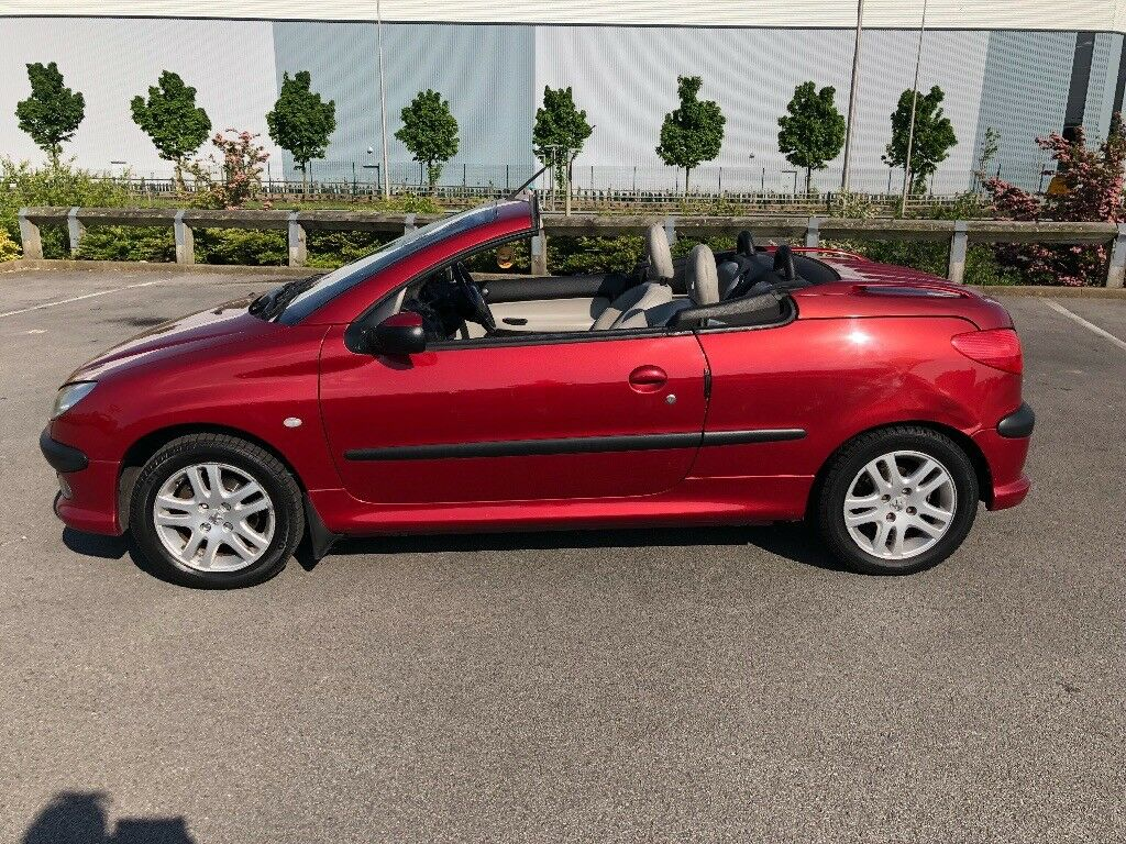 Peugeot 206 CC convertible Cream leather interior . Summer bargain ...