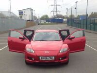 2006 (Mar 06) MAZDA RX-8 - Coupe 4 Dr - Manual - Petrol - RED *LOW MILEAGE/STARTS FINE/FSH*