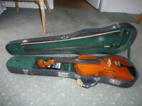 Violin - Full Size with Case and Bow.
