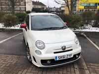 Fiat Abarth 500 2011 Pearl White Manual 1.4 CAR PLAY 135BHP TFT SPH-DA120 Xenon (Sat Nav)