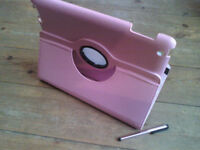 Pink ipad 2 3 or 4 case stand with pink stylus new