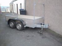 8ftx4ft twin axle trailer in very good condition