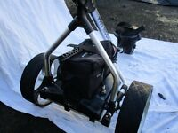 Pro Rider Electric Golf Trolley with 36 hole battery and trolley bag.