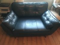 French connection zinc leather cuddle chair