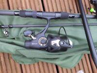 korum twin carp rod set up