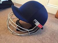 Cricket Helmet (Grey Nicolls Elite cricket helmet with grill) - ***New - never used**