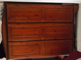 DUCAL CHATEAU BEDROOM FURNITURE COMPRISING OF 2 WARDROBES CHEST OF DRAWERS 2 BEDSIDE CABINETS, ETC.
