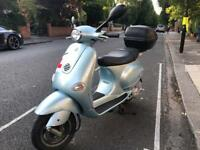PIAGGIO VESPA ET4 blue 125cc 2005 low mileage hpi clear!!