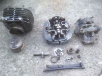 suzuki sp370 engine, barrel, piston, cylinder head for spares.