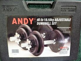 ANDY Adjustable Dumbbell Set