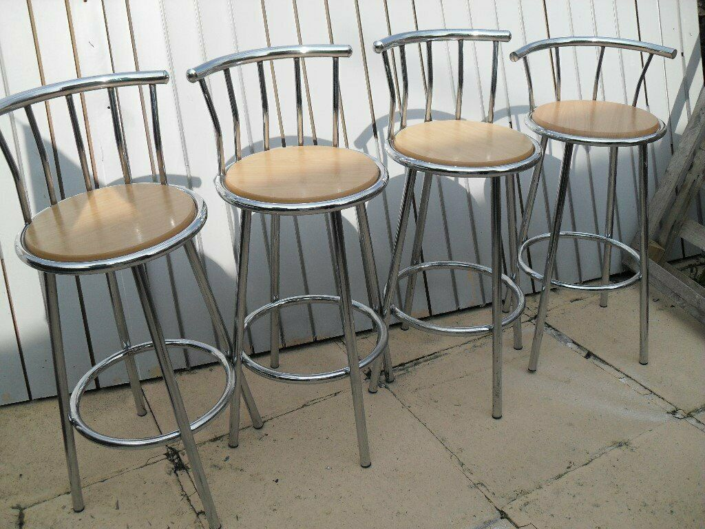 Incredible Set Of 4 Tall Stools Excellent Condition Very Clean Ideal Breakfast Bar Bargain 40 In Huddersfield West Yorkshire Gumtree Ibusinesslaw Wood Chair Design Ideas Ibusinesslaworg