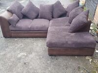 Really nice brown and chocolate cord corner sofa. Brand New clean and tidy. can deliver