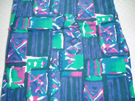 Purple/Green/Pink/White Corduroy Fabric - Never Used