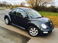 VOLKSWAGEN BEETLE 2003 AUTOMATIC 1 YEARS MOT HEATED LEATHER SEATS LOW MILES!!!