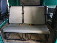 2x 3 seater bench seats