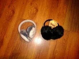 Lady's earmuffs new X 2
