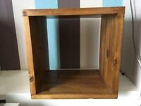 Mango wood rustic cube bookcase/side table one single/one double