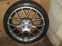 "BMW 18""MOMO ALLOYS 5X120 NEW WITH TYRES 1/3/5 SERIES"