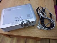 Panasonic PT-LC75E LCD Projector, with case and VGA Cable.