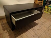 IKEA Malm black/brown chest of four drawers