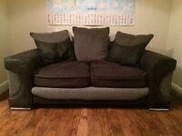 2 Seater Sofa - Black/Grey