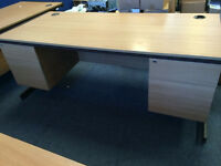 Strong large desks with drawers, high quality, vgc