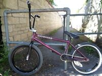 BSD David Grant BMX bike, Amity female wheels 2 piece LH crank Cult Saddle Tom White Wall Tyre, bike