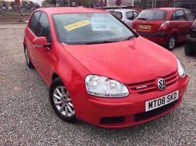 08 VOLKSWAGEN GOLF 1.9 TDI BLUEMOTION MATCH IN RED *PX WELCOME* MOT TILL JULY 2018 £2750