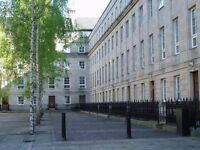 Glasgow, St Andrews Square, Merchant City, City centre. Two beds with private indoor parking, lift.