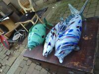 Colourful blown glass fish central London bargain