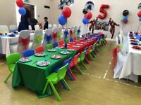 Children's Table & Chair Hire - age 3-6 years - kids Party Table & Chairs Bouncy Castle Soft Play