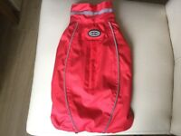 BUSTER WATERPROOF/WINDPROOF DOG RAINCOAT SIZE SMALL AS NEW