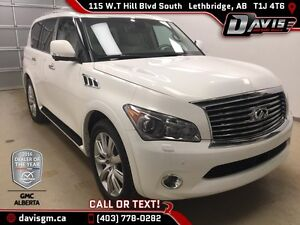 Used 2011 Infiniti QX56 4WD 7-passenger,Heated/Cooled leather,DV