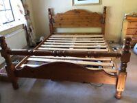 Pine bed Kingsize (5ft wide)