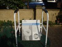 "Savanagh Toilet frame & Raised seat 5cm/2"""