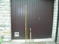 Two casting rods