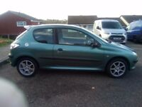 BARGAIN 206 1.1 not Vauxhall citreon Ford Fiat cheap car