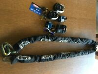ALBUS motorcycle chain and locks with case