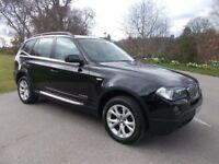 2009 09 BMW X3 2.0 20D XDRIVE SE 4X4 SUV IN METALLIC BLACK CALL 07791629657