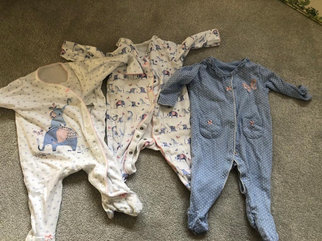 watch 979d2 1cddd Asda baby girls sleepsuits 3-6 months | in Earls Colne, Essex | Gumtree
